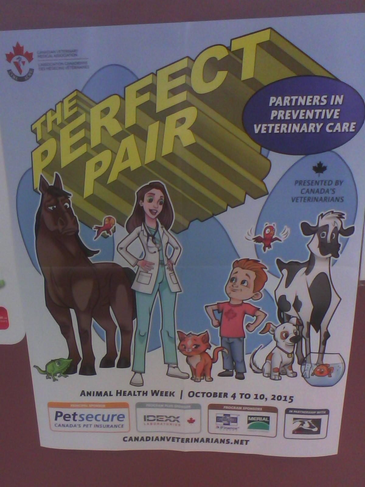 Comic poster about Animal Health Week